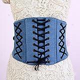 DCY Cowboy Threading Belt Wide Belt Elegant Retro Women Corset
