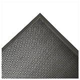 """Rubber-Cal 03_189_ZWEB_BK Door Scraper Rubber Door Mats-5/8"""" Thick X 24"""" X 32"""", Black Borders Front Doormat"""