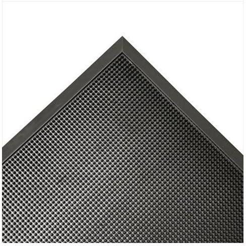 Rubber-Cal 03_190_ZWEB_BK Door Scraper Rubber Front Mats, 5 8 Thick x 32 x 39 , Black Borders