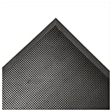 Rubber-Cal 03_191_ZWEB_BK Door Scraper Rubber Front Mats, 5/8'' Thick x 36'' x 72'', Black Borders