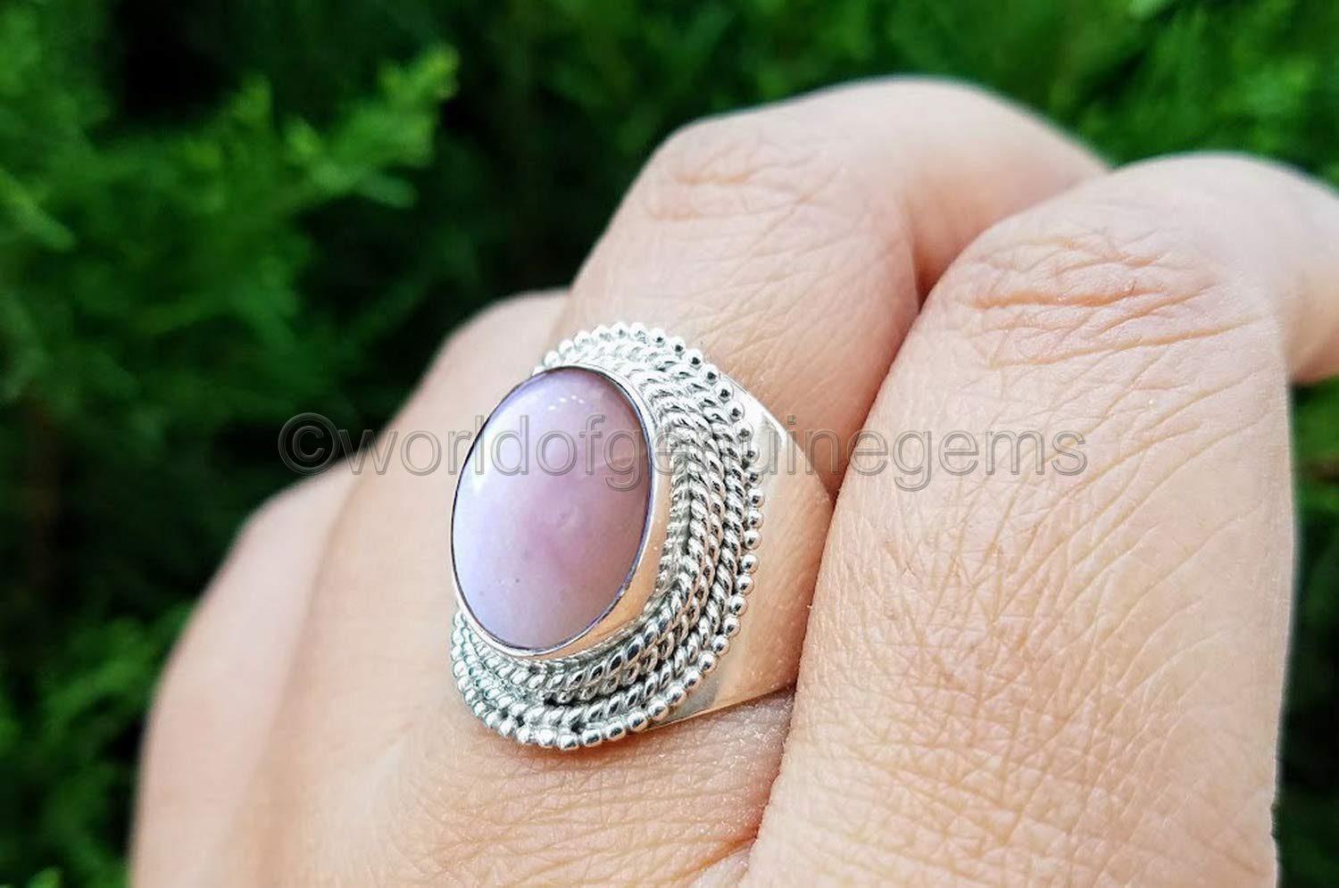 Party Wear Jewelry From India Pink Doublet Opal Rings AJR1799 Handmade Silver Rings Beautiful Stone Ring For Christmas Gift For Girl