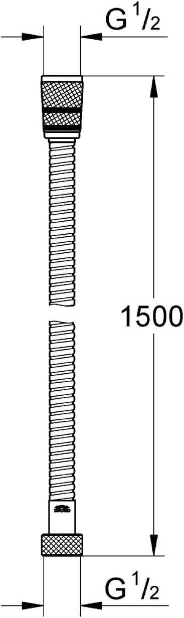 GROHE Vitalio Brauseschlauch 1500 mm Twistfree 28743000