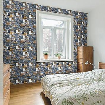 Jedfild graue Wände aus Backstein mit Kleber Tapeten Tapete ...
