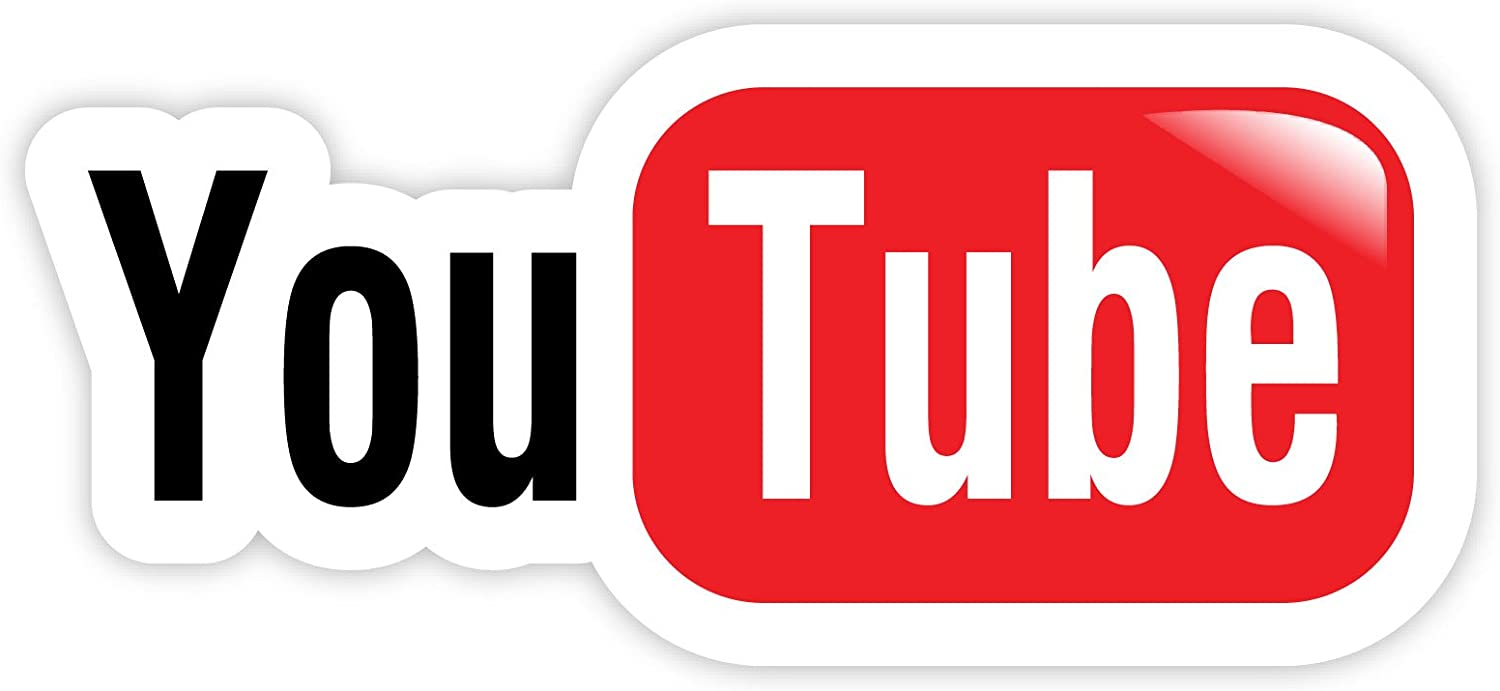 "You Tube YouTube sticker decal 6"" x 3"""