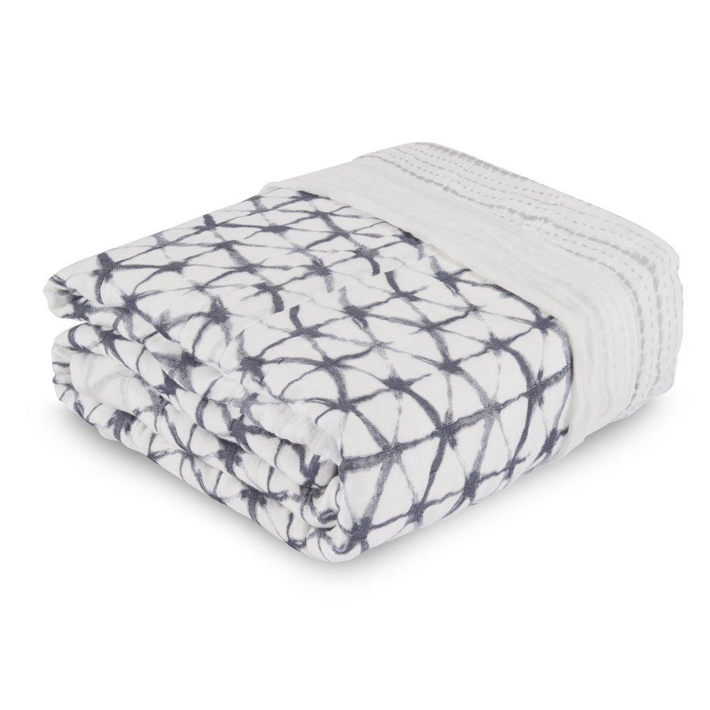 aden + anais oversized blanket, pebble shibori
