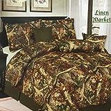 Regular King Size Bed Dimensions Luxury Camouflage Comforter Bedroom Set - 7 Piece Set (King)