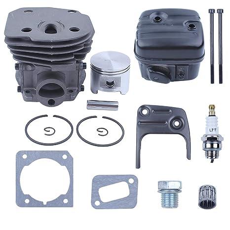 Amazon com: Haishine 45mm Cylinder Piston Exhaust Muffler