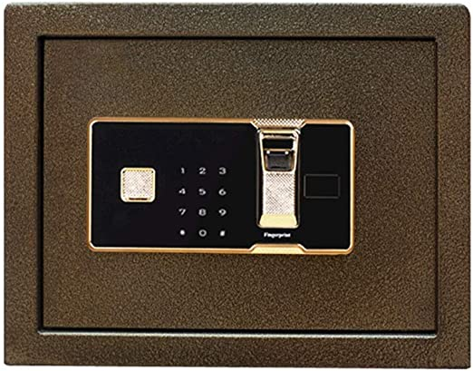 Zhongsufei Caja Fuerte de Seguridad de Huellas Dactilares Pequeña Huella Digital Password Safe 30cm de Alta Inteligente de la Huella Digital Caja de Seguridad (Color : Bronce, tamaño : 30x30x30cm): Amazon.es: Hogar