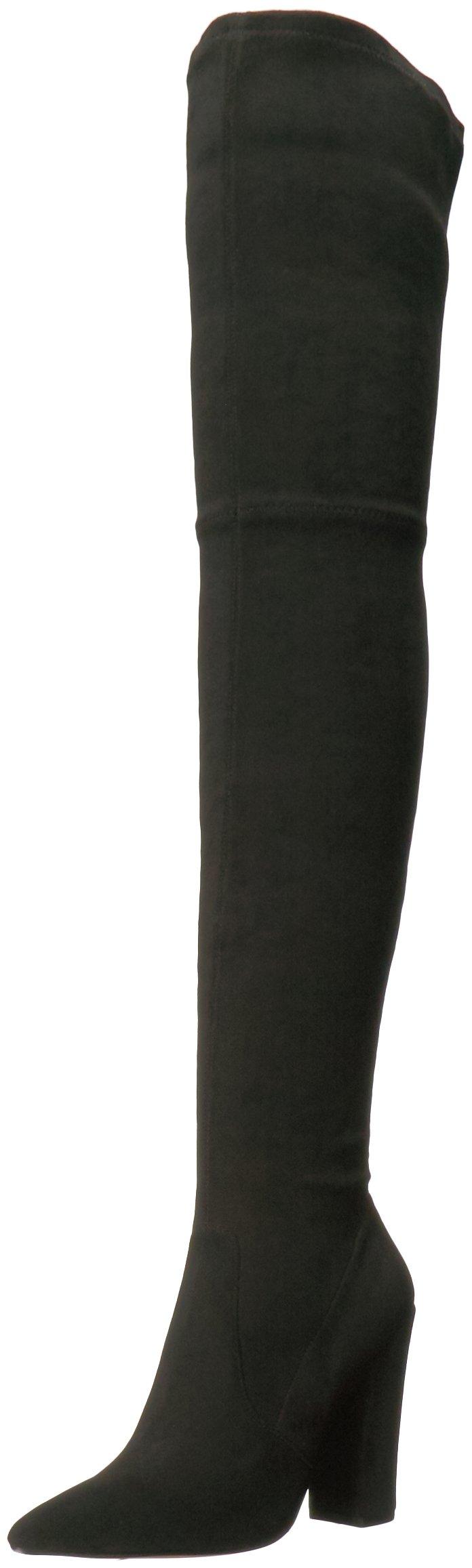 Dolce Vita Women's Emmy Fashion Boot, Black Stella Suede, 8.5 Medium US