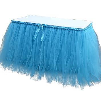 a979ecbe2 jingxu boda tutú de tul falda de mesa mesa tocador para cumpleaños ...