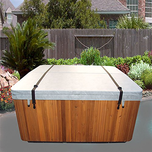 Cover Down Tie Spa (Spa Cover Straps - Hot Tub Cover Tie-down Wind Straps Heavy Duty 2