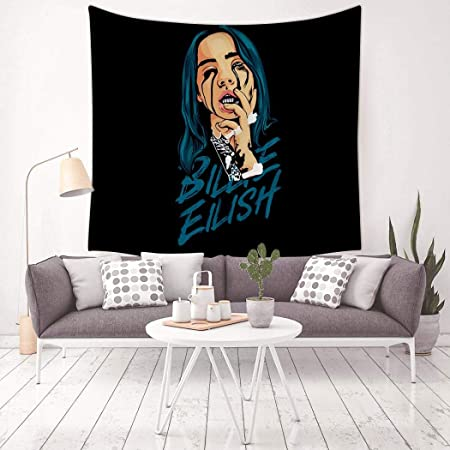 Tapisserie Murale Magique Avec Impression 3d Billie Eilish