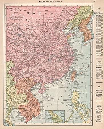 Amazon east asia china siam french indo china korea rand east asia china siam french indo china korea rand mcnally gumiabroncs Choice Image
