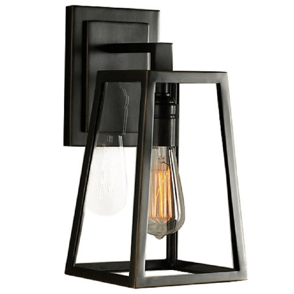 ATC® Creative Glass Box Iron Golden Triangle Rural Outdoor Indoor Balcony Bedroom Bar Restaurant Wall Lamp Sconces