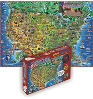 Amazoncom Maps International USA 500Piece Puzzle Toys Games