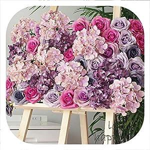 Memoirs- Artificial 11-Layer Silk Rose Head Decoration Flowers for Wedding Party Garden Decor Craft Art DIY Hotel Background Wall Flores 30