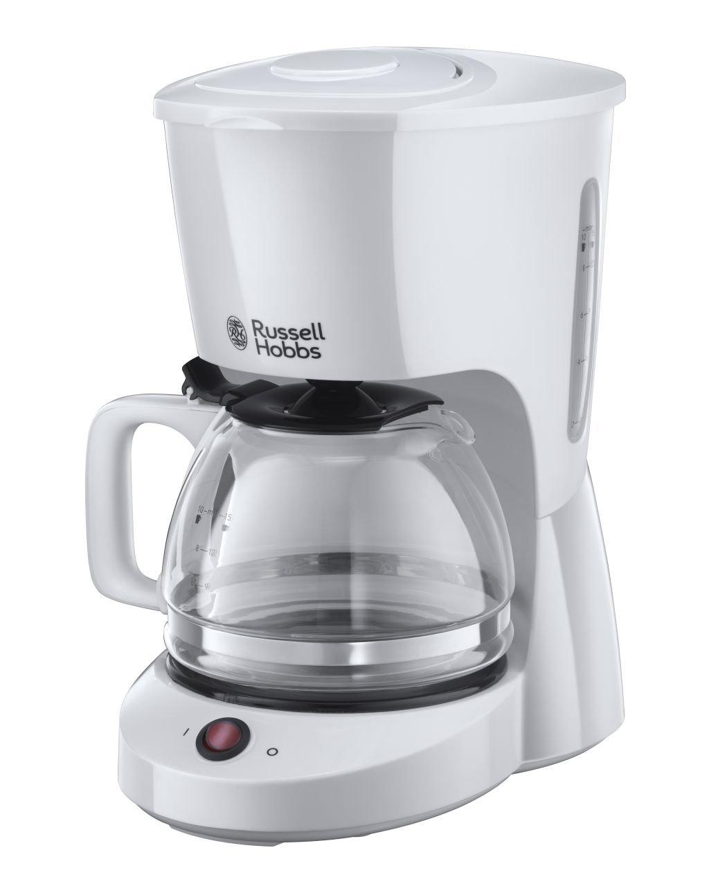 Russell Hobbs 22610-56 Macchina Caffe, 975 Watt, 1.25 Litri, Plastica, Bianco