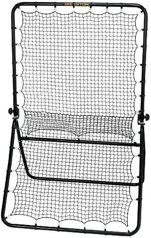 EASTON PLAYBACK ELITE Practice Net 2020 Adjustable Hinge for Multiple Training Options – Ground Balls Line Drive Pop Up Flies Heavy Duty Steel Frame Knotted Weather Resistant Netting