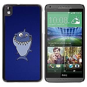 LECELL -- Funda protectora / Cubierta / Piel For HTC DESIRE 816 -- Funny Troll Lol Shark --