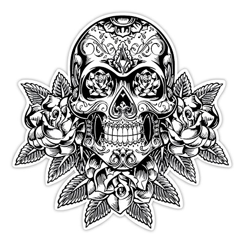 Osmdecals sugar skull sticker version 12 day of the dead vinyl wall home decor car window bumper decal sticker the obsessed with skulls store