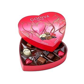 Amazon Com Godiva Chocolatier 9 Piece Valentine S Day Heart Shaped
