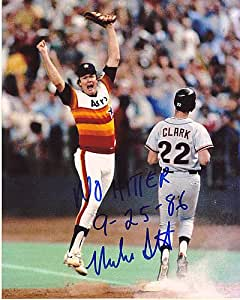 Signed Mike Scott Houston Astros No-Hitter 9-25-86 Action Signed 8 x 10 Photo