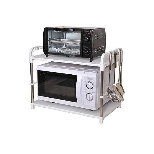 Estante del horno de microondas Estante de almacenamiento de ...