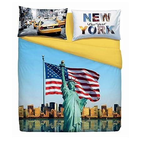 Copripiumino America.Copripiumino American Dream Singolo Bassetti Amazon It Casa E Cucina