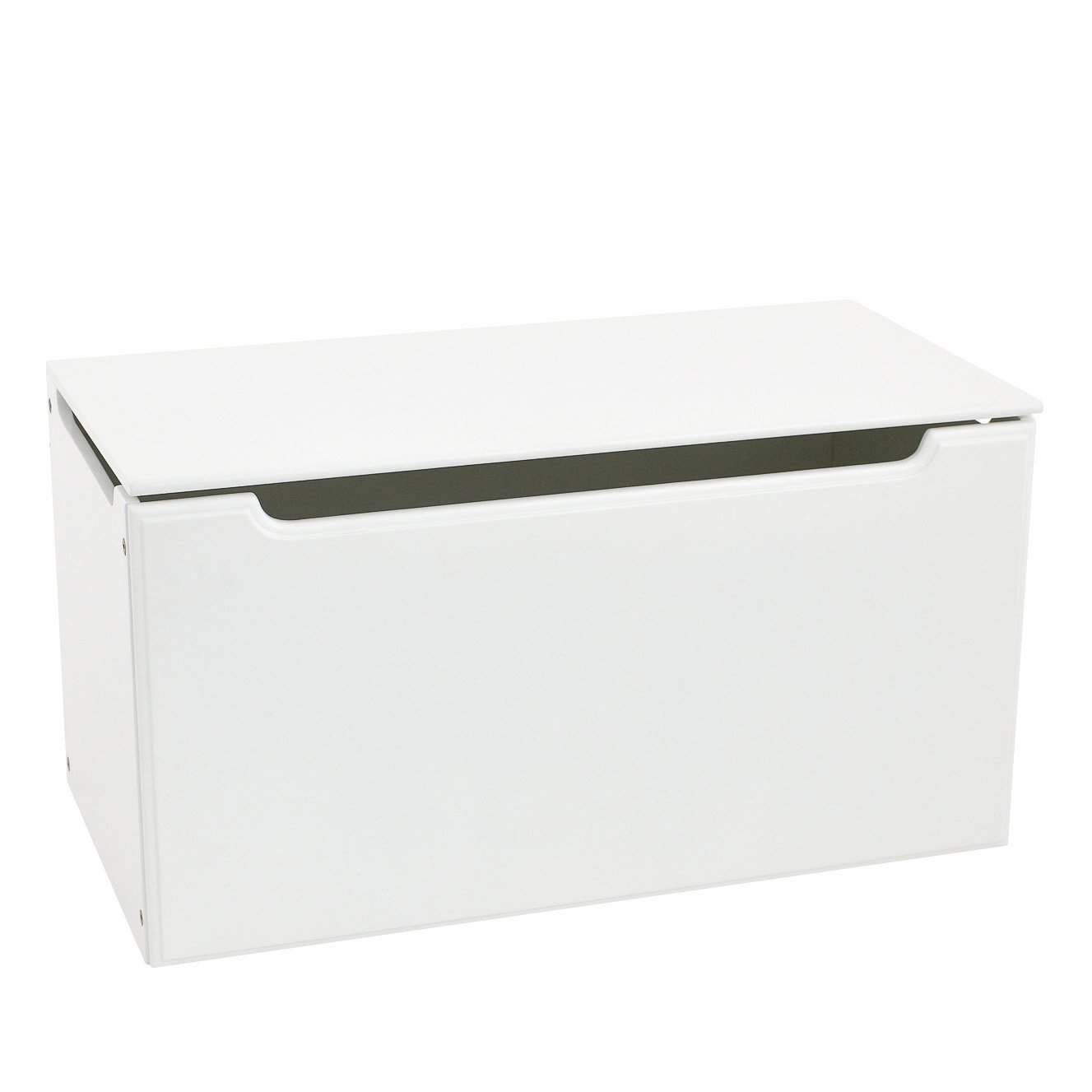 Max & Lily Natural Wood Kid and Toddler Toy Chest, White