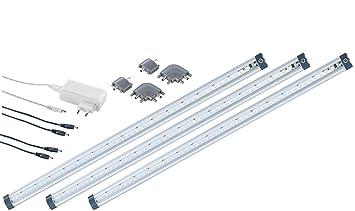 Luminea LED Schrankbeleuchtung: LED-Unterbauleuchte 50cm 3er-Set ...