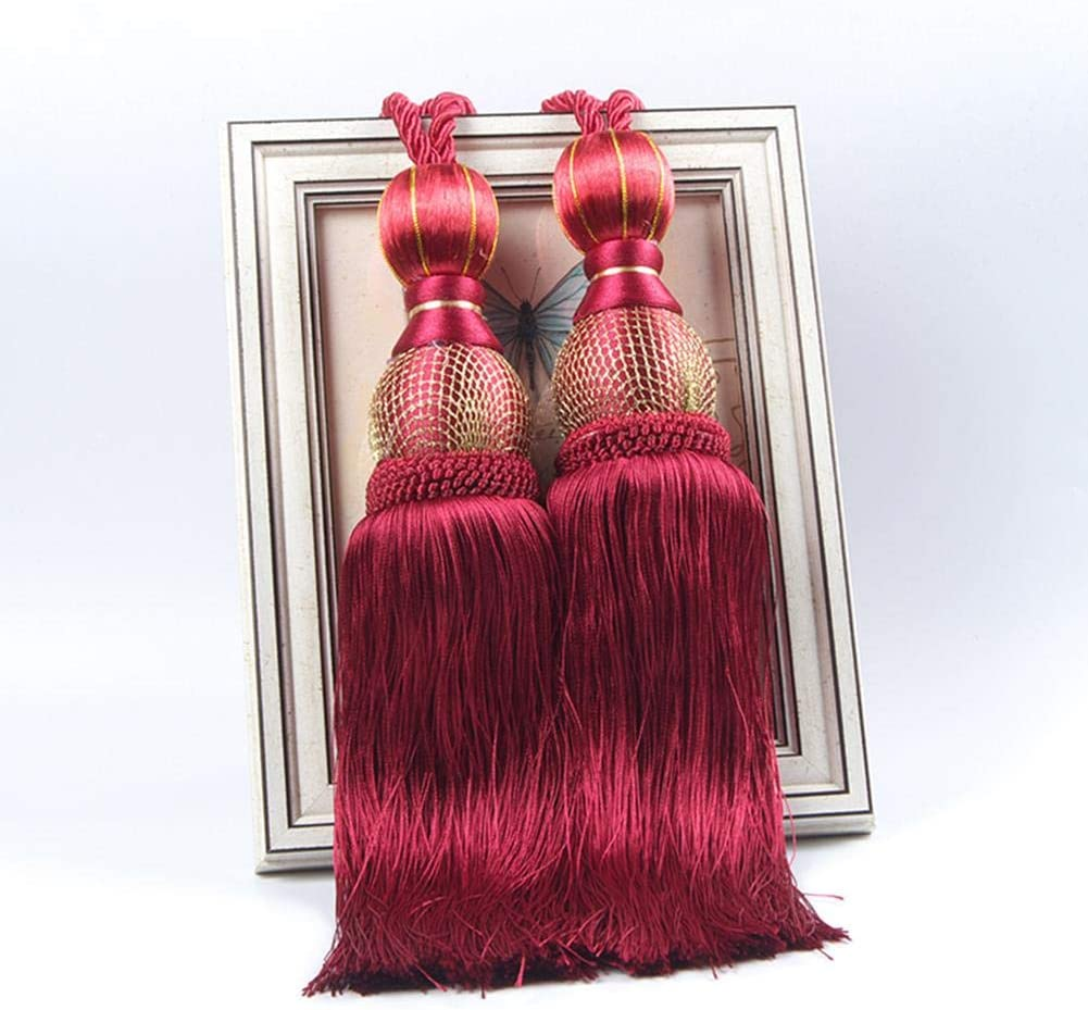 A Pair Curtain Tassel Tiebacks Hanging Ball Curtains Buckle Curtain Binding Rope