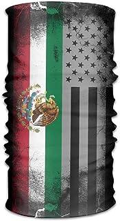 Osmykqe USA Mexico Crack Flag Ourdoor And Daily Headwear Multifunctional Seamless Magic Headband Bandana