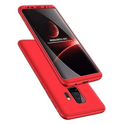 for Samsung Galaxy S9, WwWSuppliers 360 Full Protection Case for Samsung Galaxy S9 G960 Hard Shell Cover with Tempered Glass ~ Estuche Funda Tapa ...