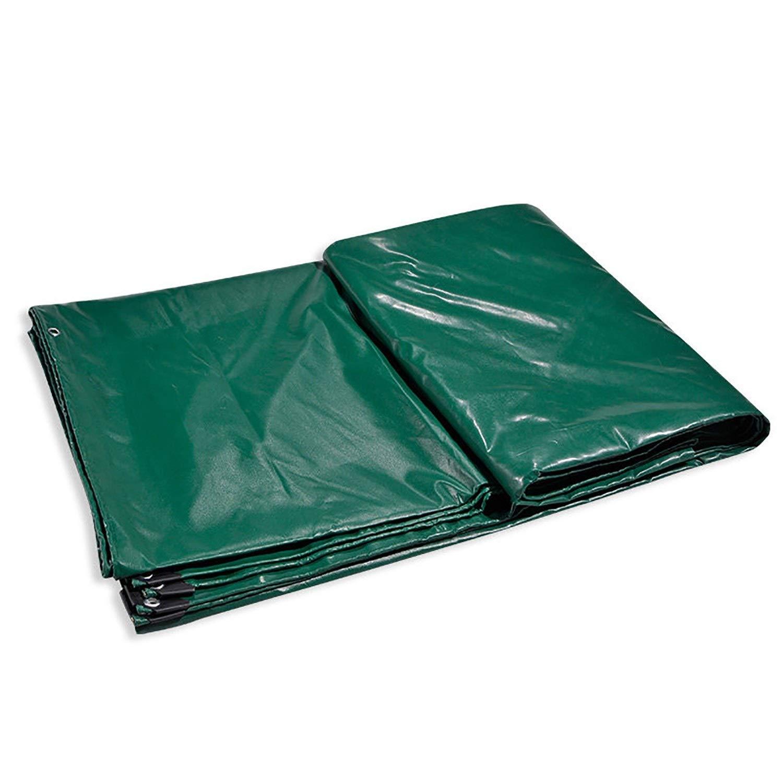 防雨防水シート 頑丈な防水シート、防水地上のテントのトレーラーカバー多層防水シート22ミルの補強された端の洗濯できるおよび収縮の証拠 (色 : 緑, サイズ さいず : 3x4m) B0101JXSF8 緑 3x4m