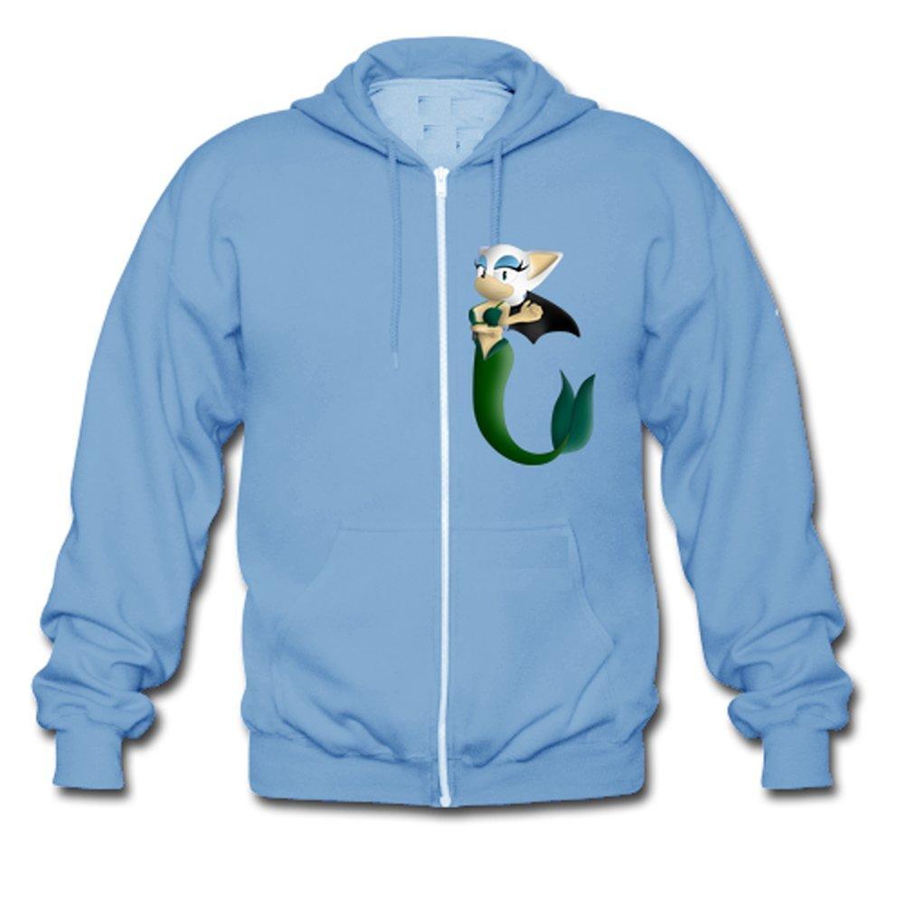 253ce744b Hot The Mermaid Cat Custom Men's Hoody Zip Hoodie Sweatshirt Jacket Skyblue  Medium: Amazon.com: Books