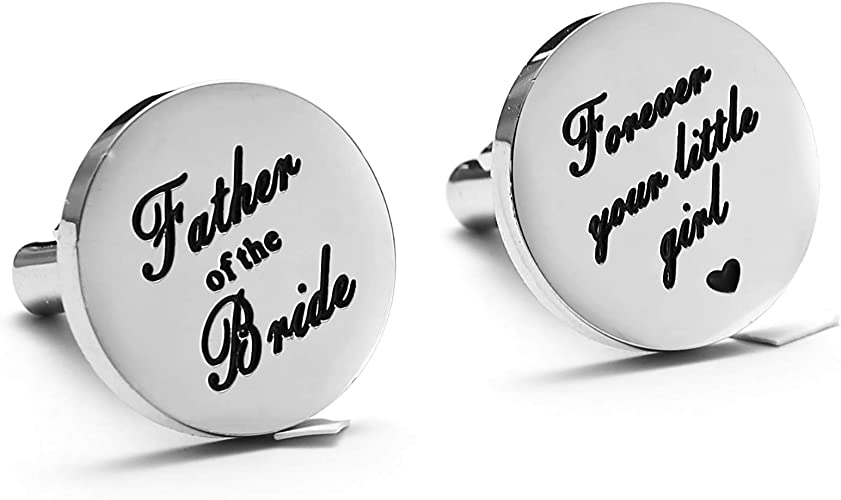 FATHER of the BRIDE Father of the Bride Then and Now Cufflinks Wedding Cufflinks Father of the bride gift Photo Cuff Links