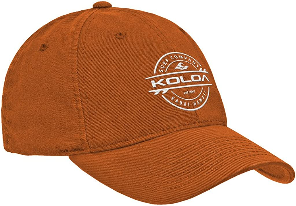 Koloa Surf Classic Cotton Dad Hats. Low Profile Adjustable Caps in 42 Colors