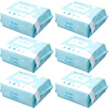 HOMYL 6 Pack Natural Baby Nappy Wipes Chemical Free Sensitive Skin Pure Water