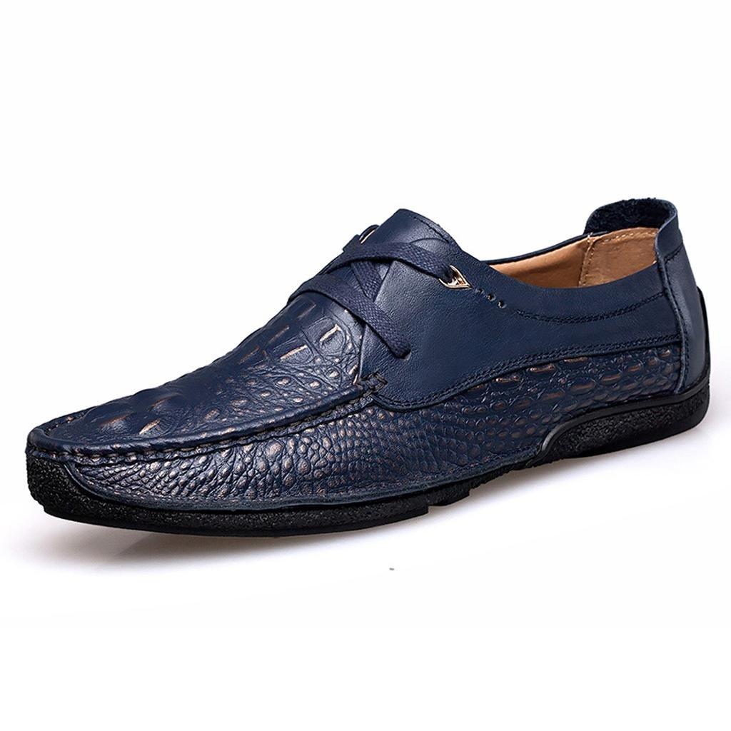 Zapatos de Hombre Zapatos Casuales Zapatos de Trabajo Zapatos de Encaje Zapatos al Aire Libre 39 EU|Blue