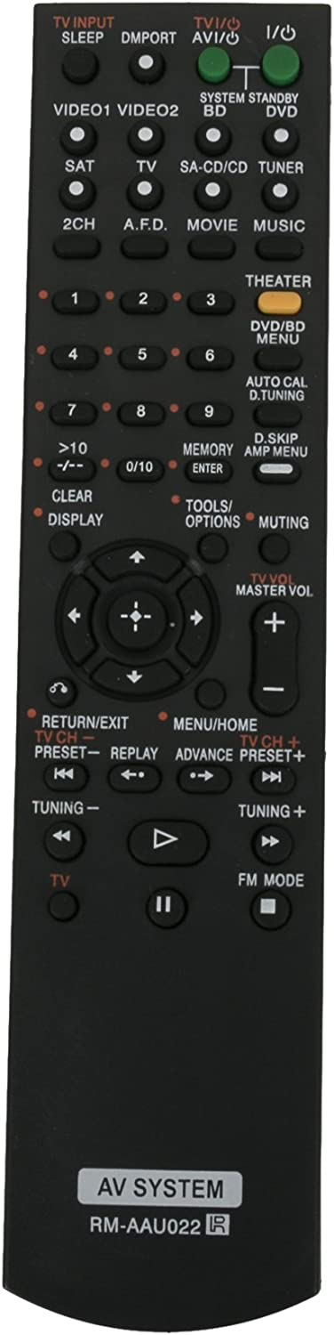 New Remote Control RM-AAU022 for Sony Home Theatre System STR-DG520 STRKM7500 HTDDWG700 HT-SF2300 STR-KS2300 HT-SS2300 HTDDW5000