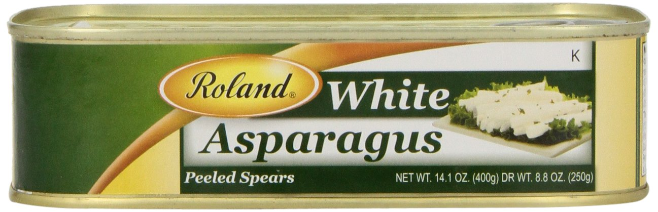 Roland Foods White Asparagus, Peeled Spears, 14.1 Ounce (Pack of 6)