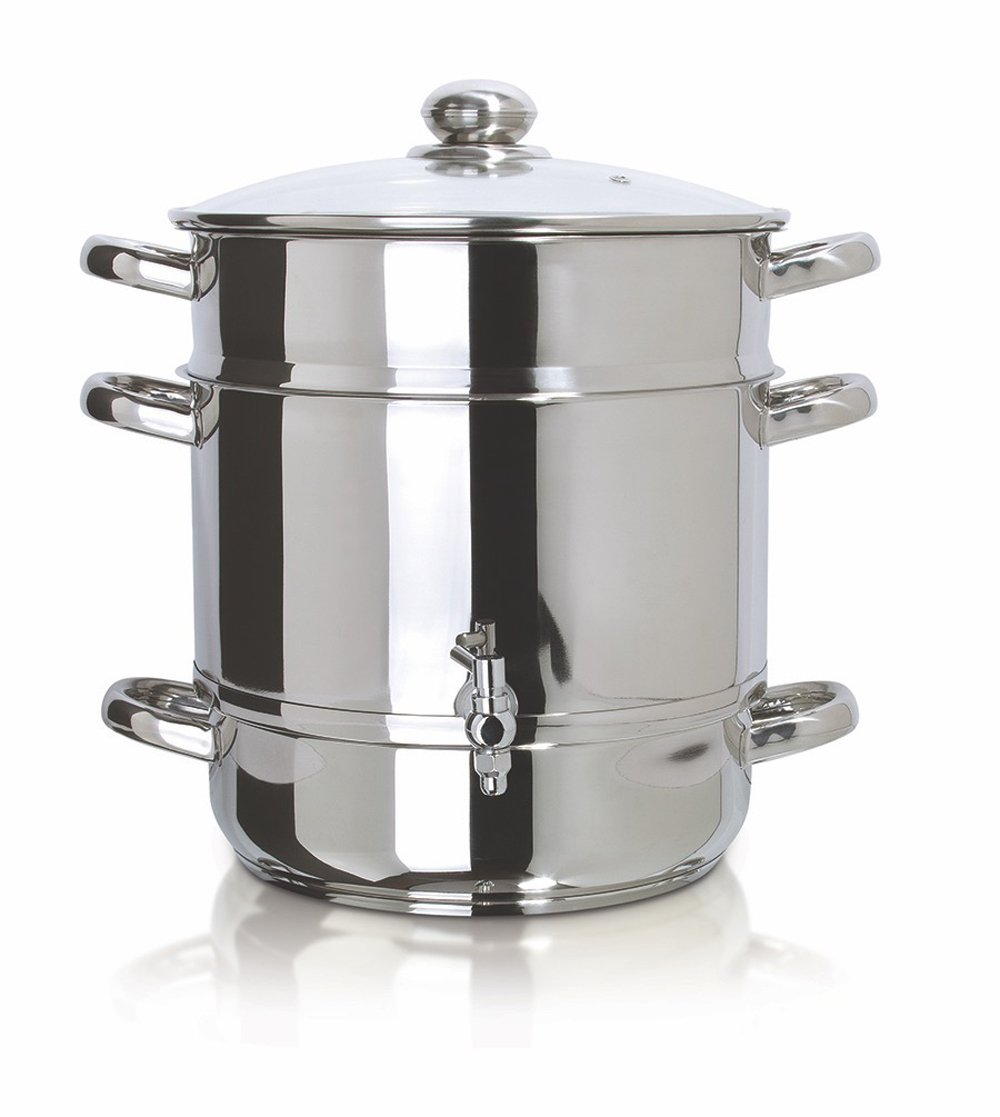 Euro Cuisine EC9500 Stove Top Steam Juicer, 8 Quarts Juice Container, Stainless Steel by Euro Cuisine