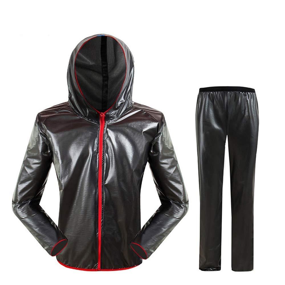 noir L Guyuan Veste imperméable pour vélo de Montagne Alpinisme Pantalon imperméable Fendu pour Hommes et Femmes Sports de Plein air (Couleur   noir, Taille   L)