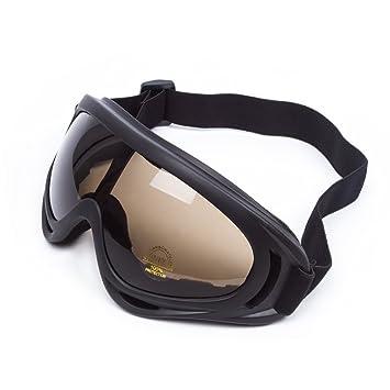 5296fc6738fa50 Lunettes de Protection Masque de Visage Incassable Anti-UV Coupe-Vent  Anti-Poussière Anti-Sable Anti-Brouillard pour Activités Extérieurs Vélo ...