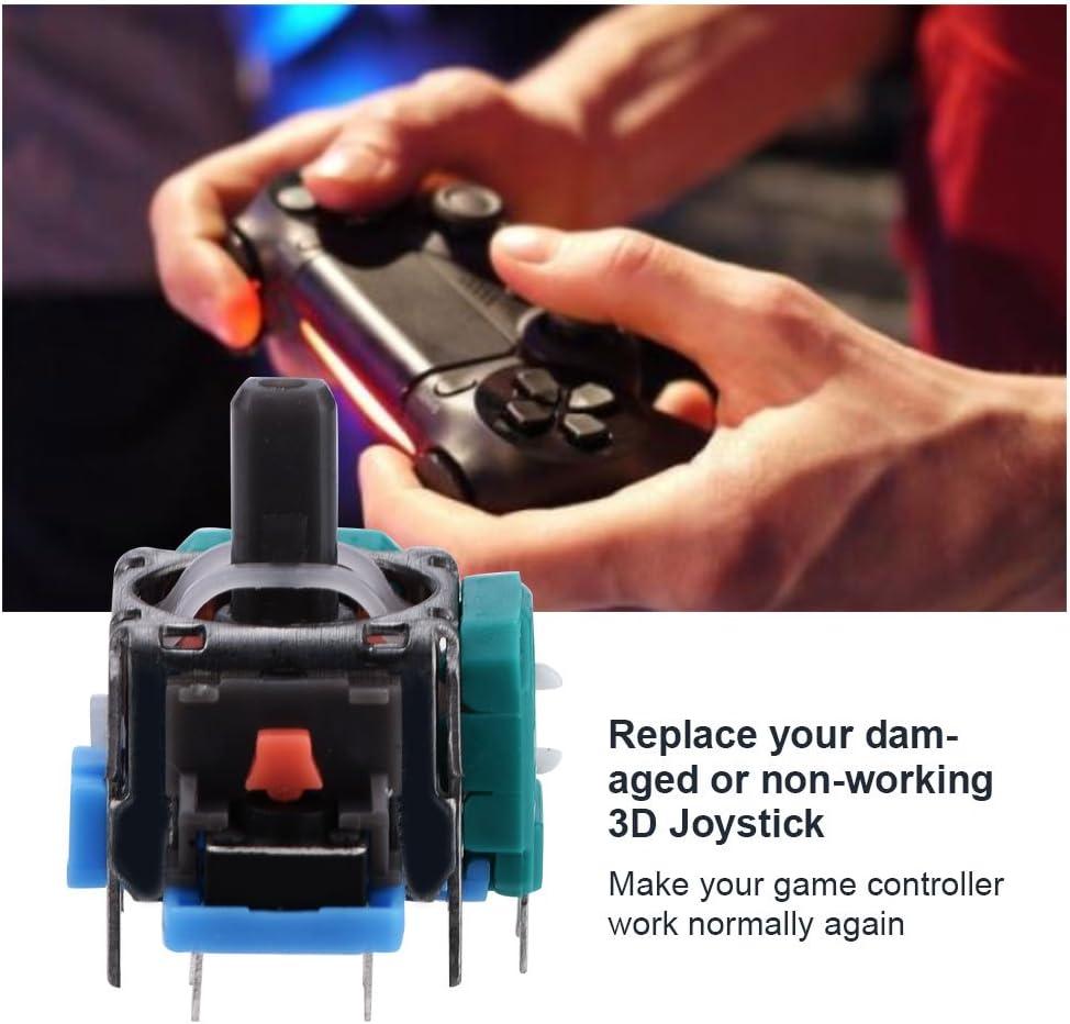 2 x 3D Analog Joystick 3D Joystick Controller Rocker Joystick Module for PS4 , Joystick Replacement for PS4 Controller Only
