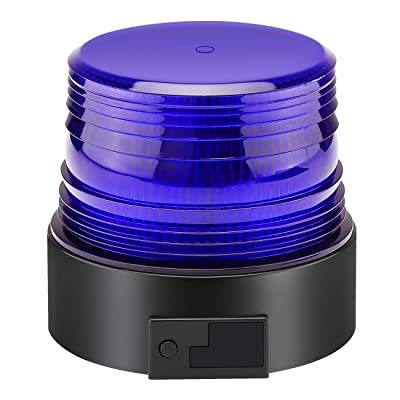 Blue Led Strobe Light, Wireless Security Emergency Flashing Warning Beacon Hazard Light for Truck Vehicle: Automotive