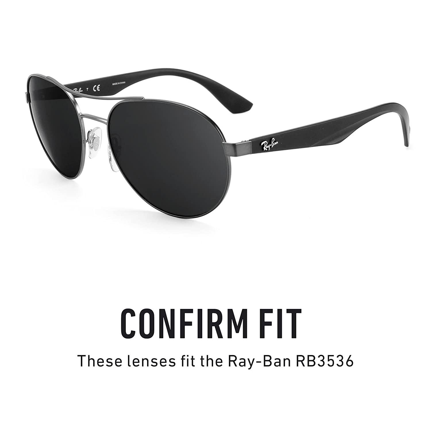 617482a1c6 Revant Polarized Replacement Lenses for Ray-Ban RB3536 Black Chrome  MirrorShield®  Amazon.co.uk  Clothing