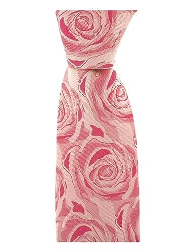 David Van Hagen Corbata rosa fucsia de la boda de la Seda: Amazon ...