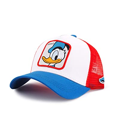 Capslab, Gorra de béisbol del Pato Disney Donald Blanca, CPL_119 ...