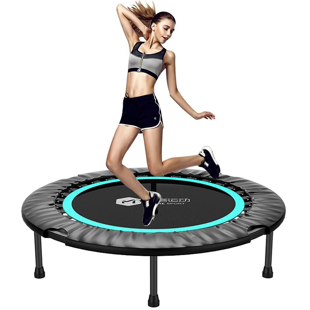 Unbekannt Lxn Max Last 330 lbs Fitness-Trampolin mit Sicherheitsunterlage für Indoor-Gartentraining Cardio-Training, 40 Zoll - Falten